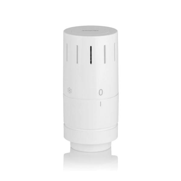 Gesamtansicht Simplex Heizung Design-Thermostatkopf TC-D1 Klemmanschluss Selfio