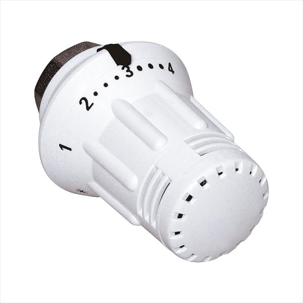 Meibes Thermostatkopf StarTecII Gewindeanschluss M30 x 1,5 mit Flüssigfühler und Nullstellung, Ansicht Vorderseite - Selfio