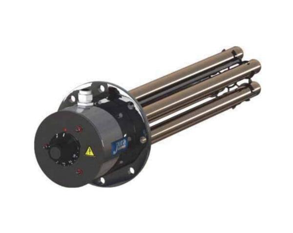 Juratherm Flanschheizung 400V 5,8 A / 4 kW mit Begrenzer und Regler - Selfio