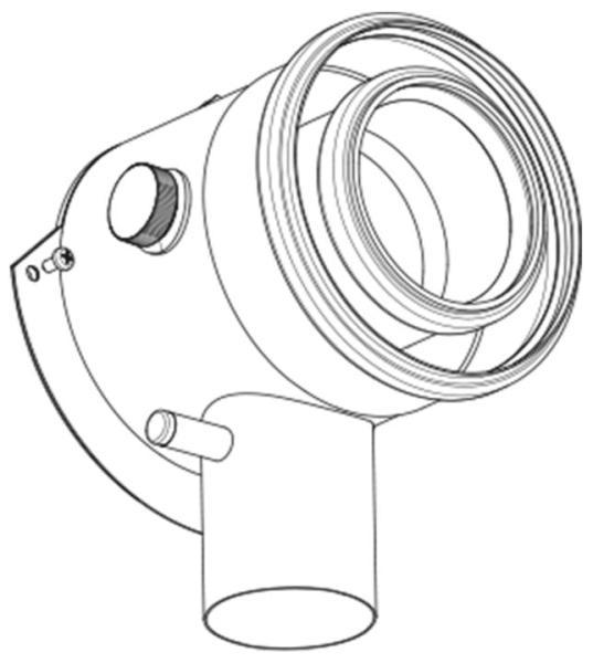 Buderus konzentrisches Abgas-Anschlussstück für GB 125 DW DN 80/125 Zeichnung