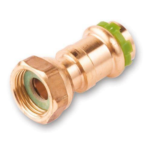 """Kupfer Pressfitting Sudo-Press Übergangsverschraubung Innengewinde flachdichend 12 mm - 1/2"""" Kontur V DVGW"""