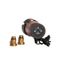 Grundfos Comfort Zirkulationspumpe 15-14 BXU PM 140 mm Ansicht inklusive Verschraubung von Selfio