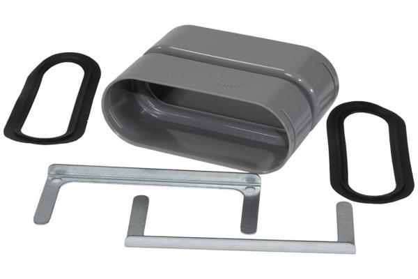 Zehnder Verbindungsmuffe für Flat 51 - Lüftungsrohr mit 2x O-Ringen und 2x Fixierschiebern - Selfio