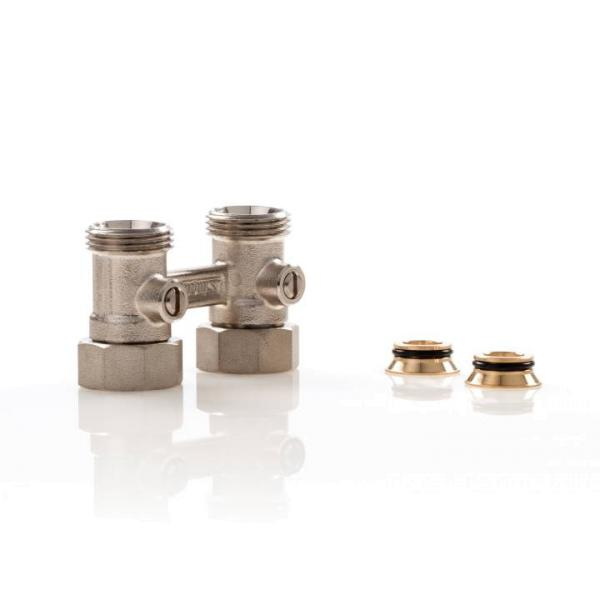 Simplex Hahnblock D2/50 Standard, Durchgangsform, für Heizkörper mit ¾ Zoll AG - F10015 Selfio