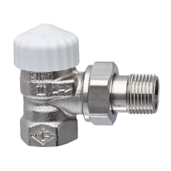 Heimeier Thermostat-Ventilunterteil V-exact II, Eckform, DN 15, vernickelt - 3711-02.000 Selfio
