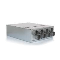 Luftverteiler 8x DN75 für Kunststoff-Flexkanal mit Schalldämpfer DN160