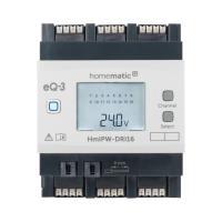 Homematic IP Wired Eingangsmodul HmIPW-DRI16 - 16-fach 152250A0 - Ansicht vorne Display an