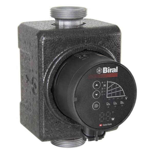 Biral Heizungs-Umwälzpumpe PrimAX 32-8 180 RED inkl. Wärmedämmschale Frontansicht
