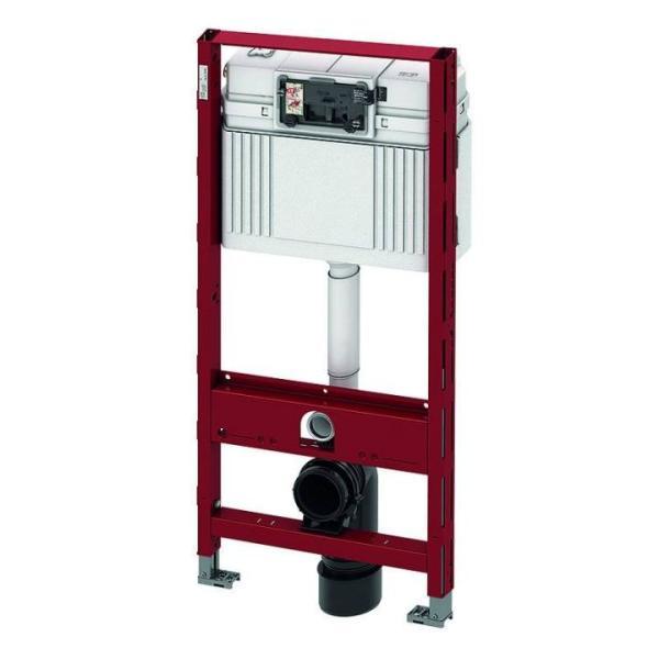 TECEprofil WC-Universalmodul mit TECE-Spülkasten, Betätigung vorne, Bauhöhe 1120 mm