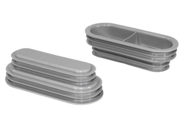 Zehnder Rohrkappe für Flat 51 - Lüftungsrohr, Inhalt 10 Stück, Farbe grau - Selfio
