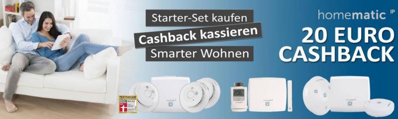 Cashback-Aktion Homematic IP Starter-Sets Smart Home Selfio