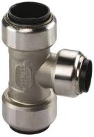 Steckfitting Tectite T-Stück Mittelgang reduziert 18 x 15 x 18 mm Edelstahl TS130181518 | Selfio