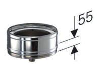 Schornstein DN 130 Kondensatablauf für Zwischenstütze Edelstahl doppelwandig