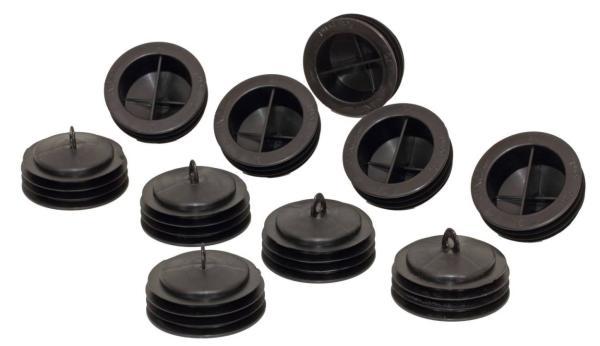 Zehnder Rohrkappe für CpmfoTube 75 - Lüftungsrohr, Inhalt 10 Stück, Farbe schwarz - Selfio
