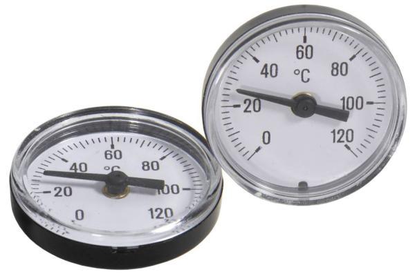 Zweiteiliges Thermometerset für Kugelabsperrhahn