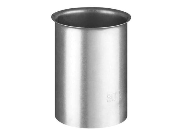 Haas+Sohn Wandfutter für Ofenrohr einfach, verzinkt, Ø 80 mm - 110508001 Selfio