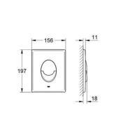 Abdeckplatte SKATE AIR für Wand-WC, senkrecht