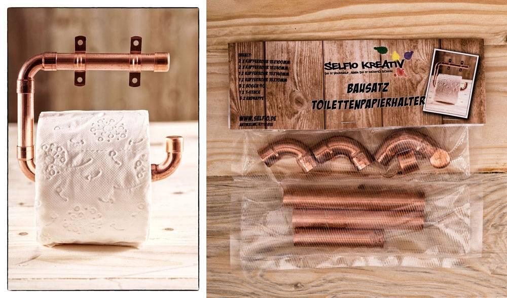 DIY Kupfer Toilettenpapierhalter aus Kupferrohr Selfio