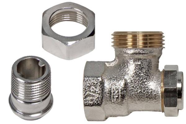 Buderus Rücklaufverschraubung RV E15 Eckform 1/2 Zoll