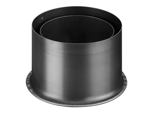 Haas+Sohn Rauchrohr-Erweiterung für Pelletöfen Durchmesser 80 auf 100 Frontansicht