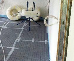 Zusatzdämmung unter Selfio Fußbodenheizung Tackersystem