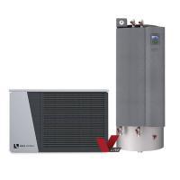 alira V-line - LWDV bis 12 kW duale Luft/Wasser Wärmepumpe mit Hydraulikstation Komplett Frontansicht 100699HSDV1201 Selfio
