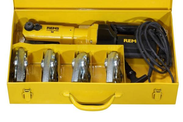 REMS elektrohydraulische Fitting - Pressmaschine Power Press SE, Set mit Pressbacken Kontur TH