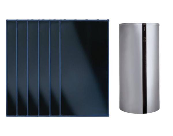 Viessmann Flachkollektor Solar-Paket Vitosol 200-FM 15,06 m² mit Vitocell Kombispeicher 950 l