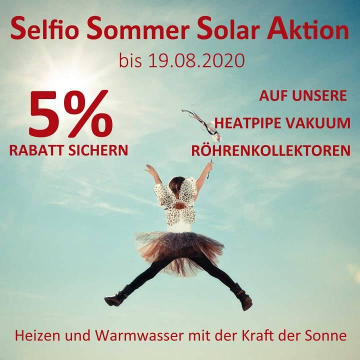 Solarthermie Rohrenkollektoren Heatpipe Aktion rabatt Selfio