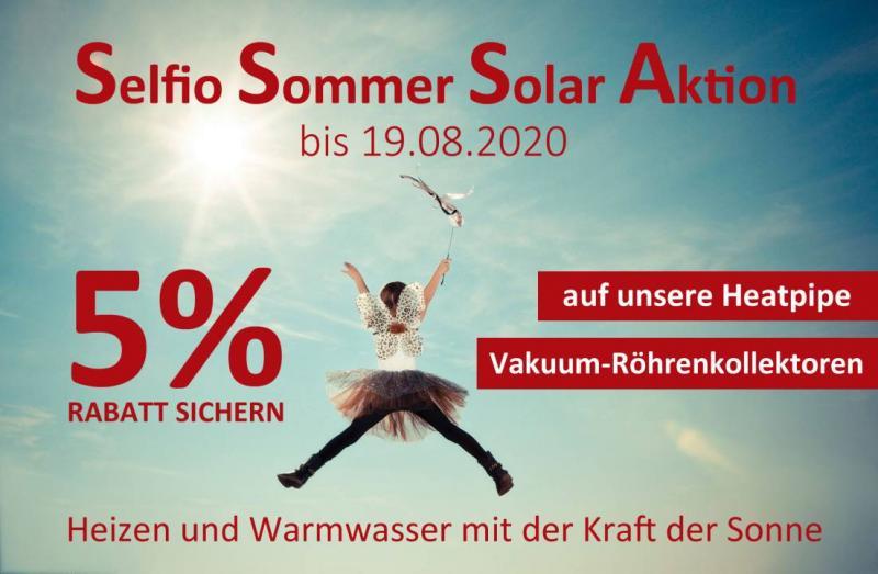 Solarthermie Röhrenkollektoren Selfio Aktion Rabatt