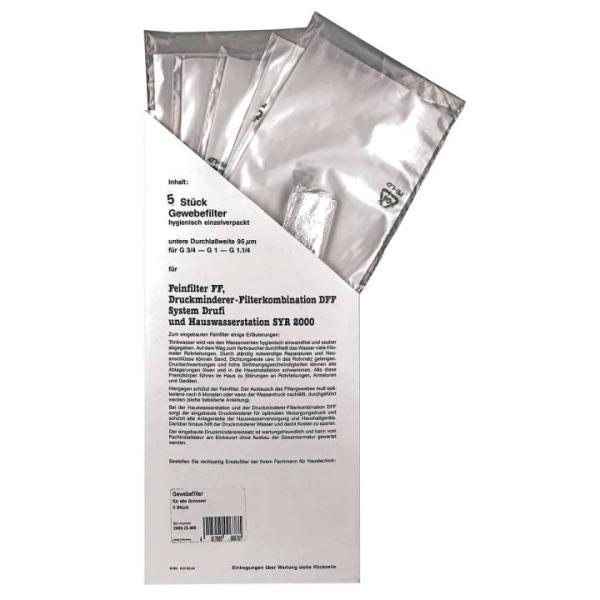 SYR Filtereinsatz für Kerzenfilter 20 µm Vorratspackung 5 Stück