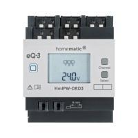 Homematic IP Wired Dimmaktor HmIPW-DRD3 - 3-fach 152626A0 - Ansicht vorne Display an