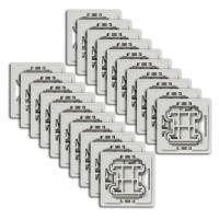Homematic Adapter für Markenschalter Jung J2 - 20 Stück