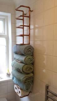 Deko-aus-Kupferrohren-Handtuchhalter-Badregal-Badezimmer-Selfio