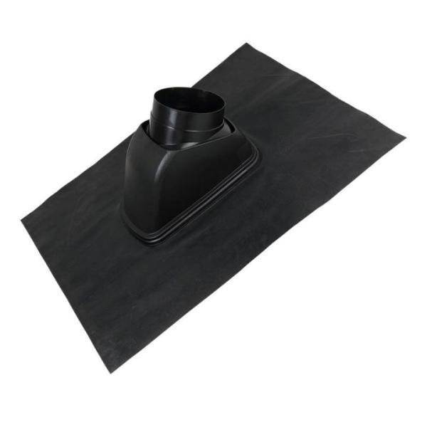 Universaldachpfanne DN 204, 800 x 1000, Kunststoff passend für Dachdurchführung DN 150, 160, 180, Ansicht seitlich Selfio