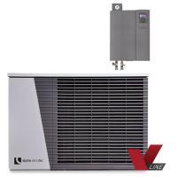 alira V-line - LWDV bis 9 kW duale Luft/Wasser Wärmepumpe mit Hydraulikmodul Komplett Frontansicht 100699HDV901 Selfio