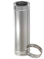 500 mm Längenelement für Edelstahl Schornstein doppelwandig DN 100