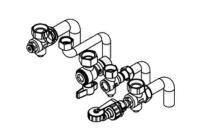 Viessmann Anschlusszubehör für Vitodens 100-W Gas-Brennwert-Kombigerät Aufputz-Montage Zeichnung Selfio