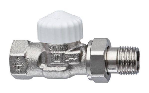 Heimeier Thermostat-Ventilunterteil V-exact II, Durchgang, DN 15, vernickelt - 3712-02.000 Selfio
