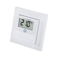 Homematic IP Temperatur- und Luftfeuchtigkeitssensor HmIP-STHD mit Display - innen 150180A0 - Ansicht schräg