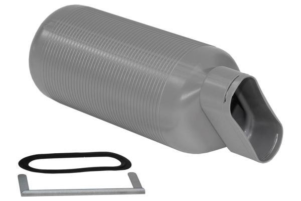 Zehnder Luftdurchlass CLRF, Anschluss stirnseitig, aus Kunststoff, Farbe grau - Selfio