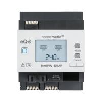 Homematic IP Wired Access Point HmIPW-DRAP 152465A0 - Ansicht vorne Display an