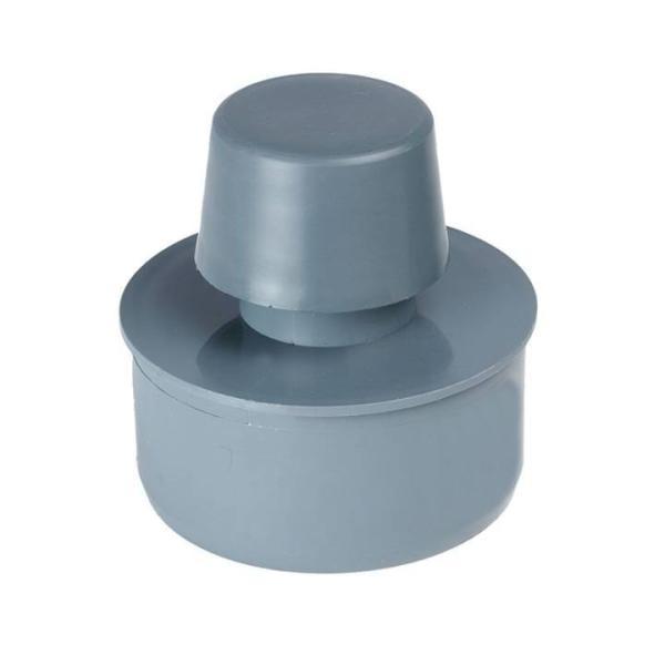 Airfit Rohrbelüfter aus PP für Abflussrohr, grau, DN 75