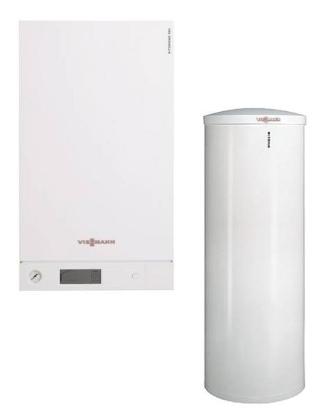 Viessmann Vitodens 100-W B1HC Gas-Brennwert Heizungspaket mit Vitocell 100-W CVA - B1HC010 Selfio