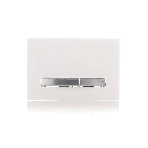 GEBERIT Betätigungsplatte SIGMA50 für 2-Mengen-Spülung, KS, weiss-alpin / chrom-gebürstet - Selfio