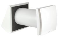 Swentibold EuroAir Wall 150 dezentrales Lüftungsgerät mit Wärmerückgewinnung Innenblende weiß, Außenwandhaube weiß Selfio