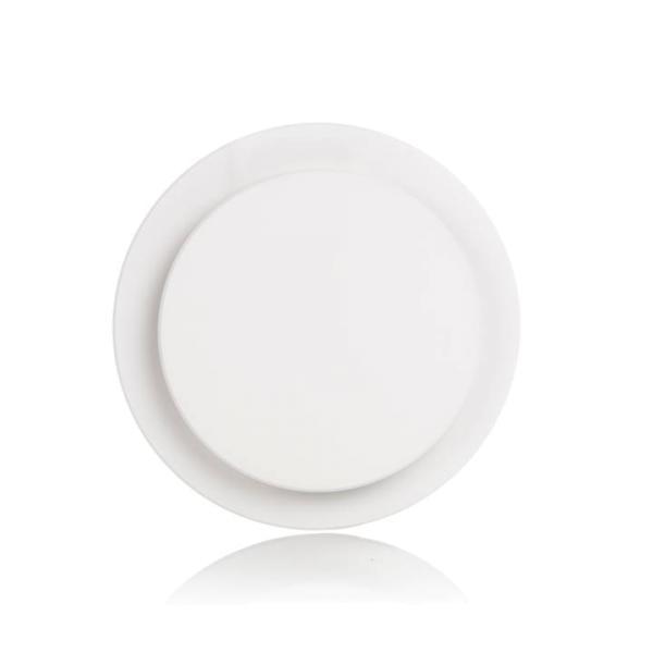 Wolf Designventil Uniair 125R, rund, Ansicht Vorderseite, Farbe weiß - Selfio