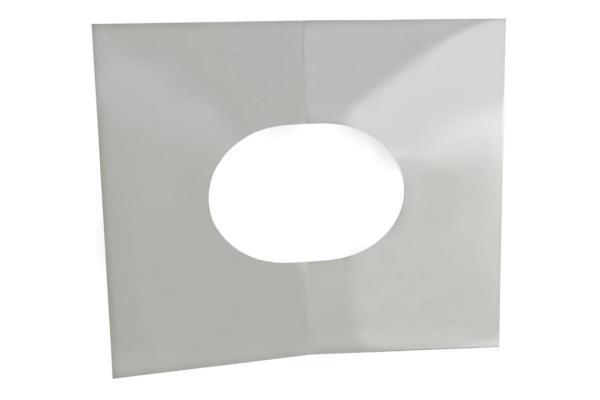 Schornstein Blendblech zweiteilig 30 bis 45 Grad Edelstahl DW DN 100