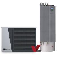 alira V-line - LWDV bis 9 kW duale Luft/Wasser Wärmepumpe mit Hydraulikstation Komplett Frontansicht 100699HSDV901 Selfio