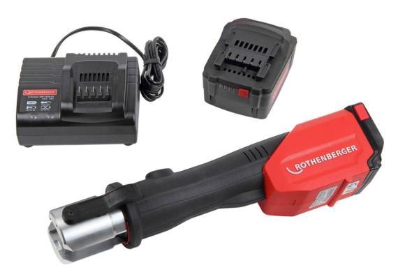 Rothenberger ROMAX 4000 elektrohydraulische Fitting - Pressmaschine Set Basic - Akku - Ladegerät